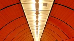Métro - Subway, Marienplatz, Munich (blafond) Tags: orange germany subway munich bayern deutschland bavaria metro curves tunnel ubahn munchen curve allemagne muenchen marienplatz courbe courbes untergrundbahn bavière