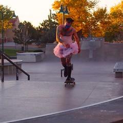 After A Fall (suenosdeuomi) Tags: newmexico santafe halloween tattoo skater tutu skateboarder bsquare pinktutu olympusepm1 kevinteske
