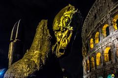 Lapidarium (Culinary Fool) Tags: night october lazio lapidarium travelingexhibit italy italia 2016 horsesculpture colosseum 18135mm brendajpederson dark roma rome sculpture lowlight culinaryfool gustavoaceves art
