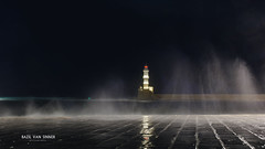 Winter is here ! (Imaginarium 2.1) Tags: winterishere winter badweather waves sea night lighthouse γυαλίτζαμί χανιά κρήτη ελλάδα κακοκαιρία κύματα bvs bazilvansinner bazilvansinnerphotography landscape outdoor greece chania oldharbour nikon sigma