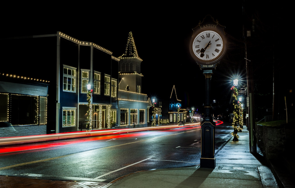 main street christmas eve jlucierphoto tags north easton massachusetts christmas lites main street - Christmas Lites