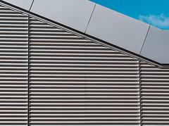 Broken Rhythm (Martyn.A.Smith LRPS) Tags: building blue sky outdoors pattern metal stilllife colour lines clouds fujifilm xti coventry university warwickshire englanduk