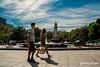 Una rápida mirada (jesus pena diseño) Tags: people walk jpena jpenaweb jesuspenadiseño madrid spain plaza street streetphotography woman colour