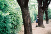 Hide and Seek (Wood Oliver) Tags: film canon eos5 85mm18 usm 135 fujicolor asa100 green girl
