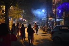 Diwali (yellaw travel) Tags: inde india diwali celebration religion feux dartifice firework blue night new delhi girls shadow voyage travel hindu hindouisme hindou
