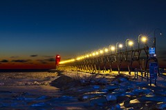 South Haven stars (Notkalvin) Tags: southhaven lighthouse light pier lights stars lsmallaperture landscapeformat nopeople night afterdark sunset bluehour goldenhour lake lakemichigan snow ice icy iced frozen cold navigationalaid puremichigan winter lakelife celestial startrails explore explored flickrexplore thankyou