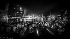 Marina Bay Sands - Light & Water Show (Gerald Ow) Tags: geraldow marinabaysands mbs light water show sony a7rii a7rm2 fe 1635mm f4 za oss singapore flickr bw black white long exposure night photography skyline cbd ilce7rm2 monochrome