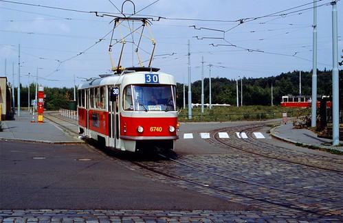 DP Prague Tram 6740 Vozovna Kobylisy