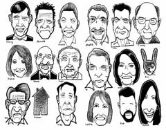 FacesLateDecember (Don Moyer) Tags: face faces grid ink drawing moleskine notebook moyer donmoyer brushpen