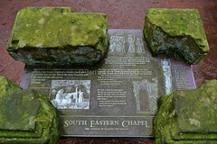 South Eastern Chapel information (James O'Hanlon) Tags: chester cheshire john baptist johnthebaptist church cathedral ruins norman medieval effigy stained glass chapel saint st