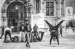 street performers (albyn.davis) Tags: people street performers streetperformer paris france europe travel blackandwhite boys activity dance dancers