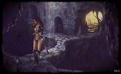 No Excuses (alexandra wardark) Tags: subtlefogvogue fantasy fantasyworld harness secondlife sl darkness sword hank you very much dear