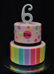 80's birthday cake (jennywenny) Tags: 80s bright pink silver birthday cake sparkle disco