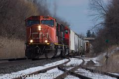 CN SD75I 5711 with train #331 (Glenn Courtney) Tags: 331 5711 on ontario sd75i copetown dundassub freight railroad railway train