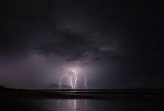 Tropical Storm (Alan McIntosh Photography) Tags: lighning storm light beach landscape power mackay monochrome bw nature