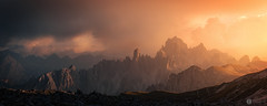 Tre Cime (chrisD_photography) Tags: trecime canon 5dmk3 dolomites mountains light sunset clouds drama moody atmospheric brilliant