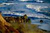 Sharp Rocks & Choppy Surf (bethrosengard) Tags: bethrosengard photomanipulation digitallyenhanced photoart digitalmagic digitalart