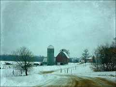 At the end of the road (novice09) Tags: farm barn rural countryside winter snow wisconsin