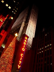 Rockefeller Centre, NY (maxrevellation) Tags: topoftherock rockefellercentre radiocity nbc christmas ny nyc manhattan newyork neon rockefeller skyscraper tower architecture festive tree city urban night sign street streetphotography star icon iconic 30rock plaza lights