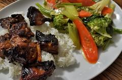 sesame honey chicken with veggies