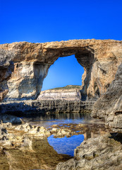 Good bye Azure Window (Majorimi) Tags: canon eos 70d digital color colorful nice malta sea azure blue sky window rock nature gozo island wonder collapse natural phenomena hdr mountain see destroyed gone view said travel tourism sad light reflection landmark