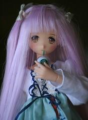 Coffee Latte (NinaKillYou) Tags: cute dress purple body head handmade ooak makeup full wig kawaii custom pure custo neemo repaint flection azone faceup obitsu pureneemo