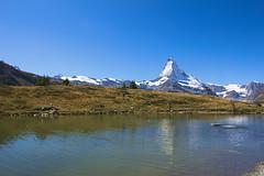 View on the Matterhorn, Zermatt (charles.caer) Tags: mountain lake switzerland zermatt matterhorn sunegga 4000er