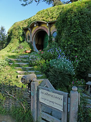 No Admittance (brentflynn76) Tags: travel newzealand film set garden movie lord rings lordoftherings hobbit hobbiton