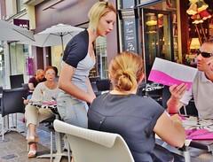 2015-08-21 Reims - Crêperie Louise - 15 Rue Marx Dormoy (P.K. - Paris) Tags: street people café terrace candid terrasse sidewalk kaffe