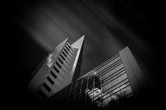 Dark Reflection (Wolf_man.Jack) Tags: city sky blackandwhite bw abstract black skyline architecture clouds contrast germany blackwhite frankfurt stadt architektur sw angular greatphotographers schwarzweis goldcollection artinbw skylinefrankfurt