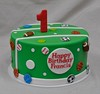 Sports birthday cake (jennywenny) Tags: birthday green sports basketball cake football baseball soccer first tennis bowling