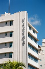 Art Deco Architectural Details Victor Hotel South Beach 1937 (Phillip Pessar) Tags: art deco architectural details south beach 35mm c41 analog film miami sobe architecture building minolta dynax 303si camera fuji fujifilm superia xtra 400 victor hotel 1937 lawrence murray dixon
