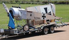 How a Fokker E.III gets moved around (CanvasWings) Tags: falls archer fokker eiii eindecker archerfalls