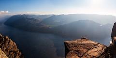 Iconic Rock - Norway, Pulpit Rock (Nomadic Vision Photography) Tags: travel autumn nature norway nationalpark europe iconic touristattraction preikestolen lysefjorden pulpitrock jonreid tinareid nomadicvisioncom