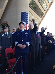 Congressman Sessions participating in the Dallas Veterans Day parade in downtown Dallas
