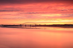 Red River from Pickering Pastures (Jeffpmcdonald) Tags: uk sunrise merseyside rivermersey d7000 jeffpmcdonald
