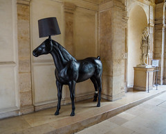 Horse, Enlightened (Sofie Lasiuk) Tags: paris france 2015 horsesculpture sigma1770 sonya77