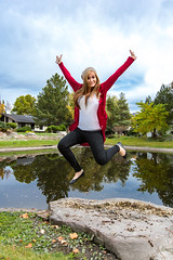 Happy Love To Leap Thursday and of course Happy Thanksgiving! (Flickr_Rick) Tags: autumn woman fall girl outside jump jumping breanne jumpology 70200f28isusm