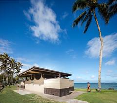 Punalu'u Comfort Station (Chimay Bleue) Tags: park beach public station hawaii design oahu toilet arches restroom honolulu comfort punaluu