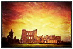 Day 345 of 366 - Over the Road! (editsbyjon) Tags: phototoaster stackables mextures snapseed cortexcamera iphoneography iphone365 iphone architecture skyline castleruins kenilworthcastle kenilworth castle clouds outdoor texture serene sky photoborder