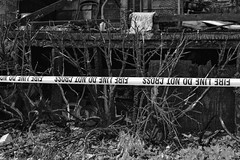 end of the line (Mike Fritcher) Tags: fire blackandwhite blackwhite bw danger abandoned trespassing decay damage architecture sad forgotten accident abandonedbuildings sorrow homeless hardtimes burn unitedstates urban urbandecay urbanlife urbanblight urbex urbanexploration dark disrepair dignity disaster devastation loss emergency poverty pain remembering art alone beauty city citylife explosion family home mikefritcher michigan nikon nature northernmichigan news outdoors rural ruraldecline rustic serene alpenami journalism