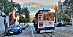 An iconic San Francisco shot : cable car with Alcatraz Island in the background (Rex Montalban Photography) Tags: rexmontalbanphotography sanfrancisco cablecar alcatraz hdr
