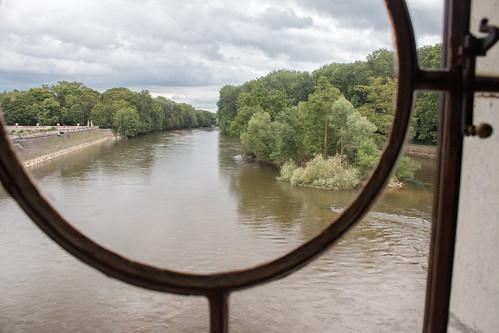 Vue sur le Cher depuis le Château de Chenonceau