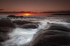 Grants Point sunrise (Rich Morrison) Tags: grants point binalong bay fires st helens east coast tasmania australia seascape sunrise nikon d5000 landscape