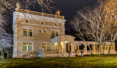 In the Spotlight (tquist24) Tags: elkhart hdr indiana nikon nikond5300 ruthmeremansion architecture geotagged lights longexposure museum night tree trees winter unitedstates
