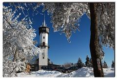 Berggasthof Fröbelturm - Thüringer Wald (kh goldphoto) Tags: thüringen fröbelturm berggasthof winter rauhreif schnee wanderweg oberweissbach 2011 frost