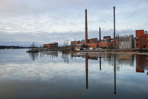 Chimneys reflected