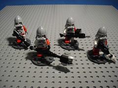 Żołnierze - Infantry Weapons (Śląski Hutas) Tags: lego bricks minifig figures soldiers military polska poland scifi futuristic