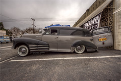 1948 chevy stylemaster delivery truck (pixel fixel) Tags: 1948 bomblife chevrolet deliverytruck gardengrove gray hillcofasteners paneltruck sideview stylemaster supercruisexiv