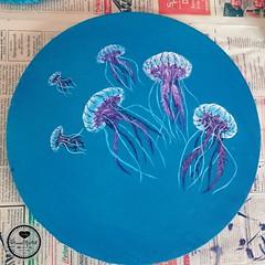 Jellyfishs (Sandys.PiecesOfArt.) Tags: quallen jellyfish fish swarm blue undersea unter wasser acryl auf leinwand acrylic canvas acrylmalerei painting art kunst malerei blau sandyspiecesofart sandys piecesofart